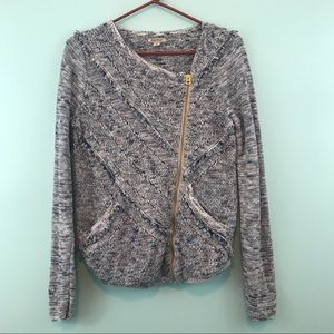 Lucky Brand Sweaters - Lucky Brand Moto Crochet Style Cardigan Jacket